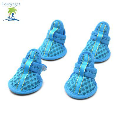 Lovoyager VSB12003 Pet Accessories Soft Rubber Sole Mesh Spring Summer Small Dog Sandals Puppy ShoesDog Clothing &amp; Shoes<br>Lovoyager VSB12003 Pet Accessories Soft Rubber Sole Mesh Spring Summer Small Dog Sandals Puppy Shoes<br><br>Color: Pink,Blue<br>Fit: Teddy Dog,ChiHuaHua Small Cats Small Dog<br>For: Dogs<br>Functions: Adjustable<br>item: summer dog shoes<br>Material: Rubber<br>Occasion: Outdoor/Travel/Sport/Casual shoes for dog<br>Package Contents: 4 x  Summer Dog Shoes<br>Package size (L x W x H): 10.00 x 5.00 x 3.00 cm / 3.94 x 1.97 x 1.18 inches<br>Package weight: 0.0600 kg<br>Season: Summer<br>Size: Others<br>Type: Shoes