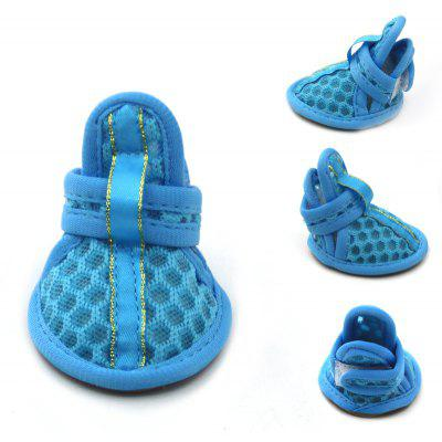 Lovoyager VSB12003 Pet Accessories Soft Rubber Sole Mesh Spring Summer Small Dog Sandals Puppy Shoes