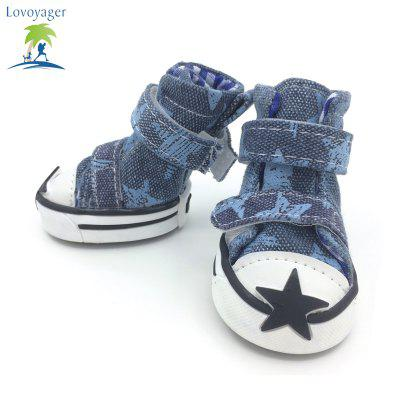 Lovoyager VSE15002 Casual Pet Shoes Star Print Anti-Slip Sneakers Breathable Boots For Puppy DogsDog Clothing &amp; Shoes<br>Lovoyager VSE15002 Casual Pet Shoes Star Print Anti-Slip Sneakers Breathable Boots For Puppy Dogs<br><br>Color: Red,Blue,Green,Orange<br>Fit: Teddy Dog,ChiHuaHua Small Cats Small Dog<br>For: Dogs<br>Functions: Others<br>item: Sports dog shoes<br>Material: Canvas<br>Package Contents: 4 x  Dog Stars Shoes<br>Package size (L x W x H): 7.00 x 6.00 x 3.00 cm / 2.76 x 2.36 x 1.18 inches<br>Package weight: 0.0900 kg<br>Season: All seasons<br>Size: S,M,L,XL,XXL<br>Type: Shoes