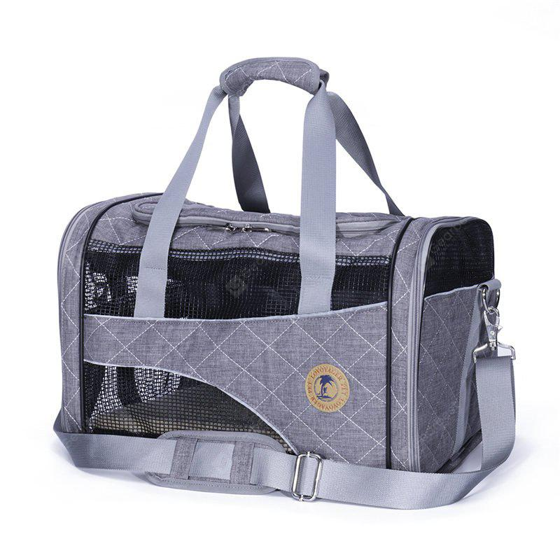 GRAY Lovoyager LVC1707 Pet Car Travel Carrier Bag Folding Portable Breathable Mesh Cotton Dog Cats Products