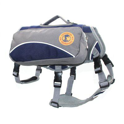 Lovoyager VB16012 Outdoor Pet Saddle Bag Harness Multifunctional Training Hiking Pouch for Large Dog
