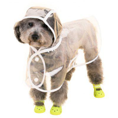 Lovoyager VC161103 Waterproof Pet Raincoat Hooded Jacket Transparent Clothing for Small Large Dog