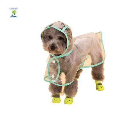 Lovoyager VC161103 Waterproof Pet Raincoat Hooded Jacket Transparent Clothing for Small Large DogDog Clothing &amp; Shoes<br>Lovoyager VC161103 Waterproof Pet Raincoat Hooded Jacket Transparent Clothing for Small Large Dog<br><br>Color: Green,Pink,Purple,White<br>For: Dogs<br>Functions: Waterproof<br>item: Pet Raincoat<br>Material: PVC<br>Package Contents: 1 x Pet Raincoat<br>Package size (L x W x H): 35.00 x 20.00 x 5.00 cm / 13.78 x 7.87 x 1.97 inches<br>Package weight: 0.4500 kg<br>Season: All seasons<br>Size: Others<br>Type: Others