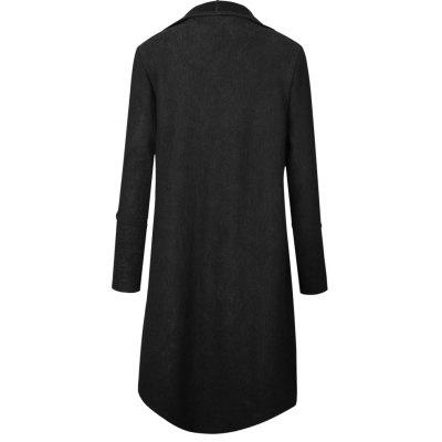 2017 New Autumn/Winter Long Style Cardigan JacketJackets &amp; Coats<br>2017 New Autumn/Winter Long Style Cardigan Jacket<br><br>Closure Type: Open Stitch<br>Clothes Type: Wool &amp; Blends<br>Collar: Turn-down Collar<br>Elasticity: Nonelastic<br>Embellishment: Criss-Cross<br>Fabric Type: Jersey<br>Material: Polyester<br>Package Contents: 1 ? Coat<br>Pattern Type: Solid<br>Shirt Length: Long<br>Sleeve Length: Full<br>Style: Casual<br>Type: Asymmetric Length<br>Weight: 0.6000kg<br>With Belt: No
