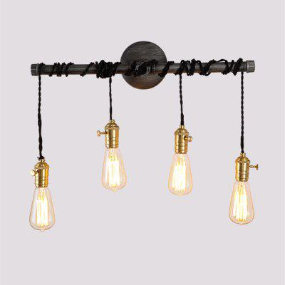 Buy SILVER GRAY Brightness Vintage Industrial Pipe Switch Wall Lamp for $79.40 in GearBest store