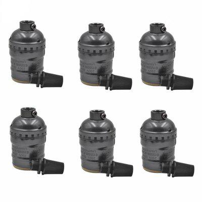 Brightness E26 / E27 Lamp Base Socket Holder Medium 6PCS