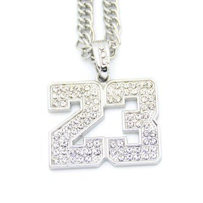 Buy SILVER Hip Hop Necklace Textured Digital Pendant Necklace for $25.00 in GearBest store