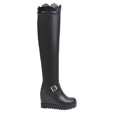 Women's Above Knee Boots Sexy Laced Design Faddish Heel Boots