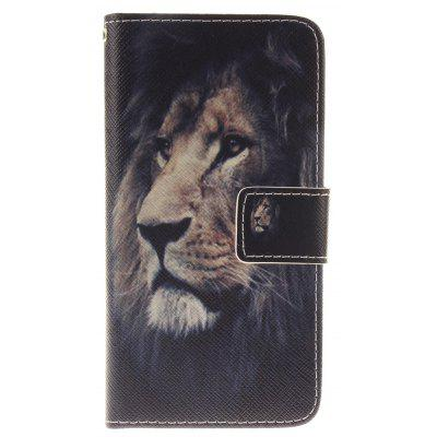 Buy BLACK The Lion Pattern Card Holder with Stand Flip Magnetic Full Body Cover Pu+Tpu Leather Wallet Case for Iphone 7 / 8 4.7 Inch for $4.07 in GearBest store