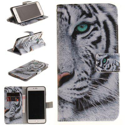Buy BLACK The Tiger Pattern Card Holder with Stand Flip Magnetic Full Body Cover Pu+Tpu Leather Wallet Case for Iphone 7 / 8 4.7 Inch for $4.21 in GearBest store