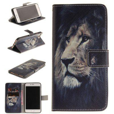 Buy BLACK The Lion Pattern Card Holder with Stand Flip Magnetic Full Body Cover Pu+Tpu Leather Wallet Case for Iphone 7 Plus / 8 Plus 4.7 Inch for $4.21 in GearBest store