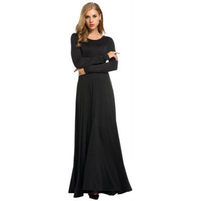 Women'S Clothing Fashion Solid Color Long Sleeve Dress