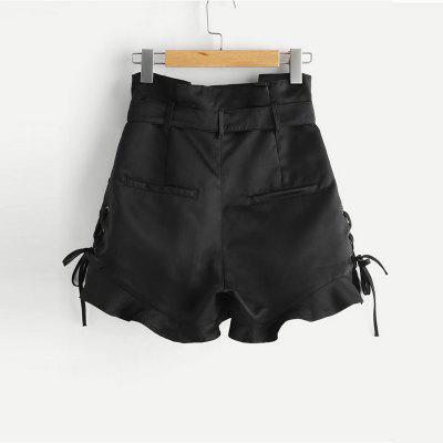 Womens Fashion Straps High Waisted TrousersShorts<br>Womens Fashion Straps High Waisted Trousers<br><br>Closure Type: Drawstring<br>Elasticity: Micro-elastic<br>Fabric Type: Broadcloth<br>Fit Type: Regular<br>Front Style: Pleated<br>Length: Mini<br>Material: Polyester<br>Package Contents: 1 x Trousers<br>Pattern Type: Solid<br>Style: Casual<br>Waist Type: High<br>Weight: 0.2200kg