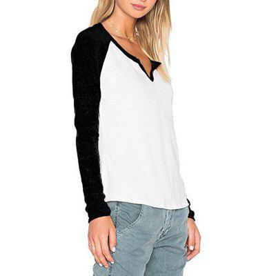 Womens T-Shirt Fashion Hit Color Long-Sleeved T-ShirtTees<br>Womens T-Shirt Fashion Hit Color Long-Sleeved T-Shirt<br><br>Collar: V-Neck<br>Elasticity: Micro-elastic<br>Fabric Type: Broadcloth<br>Material: Cotton Blends<br>Package Contents: 1 x T-shirt<br>Pattern Type: Others<br>Shirt Length: Regular<br>Sleeve Length: Full<br>Style: Casual<br>Weight: 0.2000kg