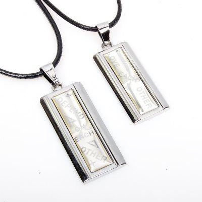 Rain Shade for You Fashion Lovers Couple Necklace 2 Pcs/Lot