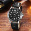 Cadisen Watches Classic Men AUTO Date automatic Mechanical Watch Analog Skeleton Black Leather black ceramic Wristwatch - BLACK LEATHER BAND