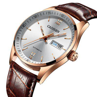 Hot Sale Cadisen Men Watches Top Luxury Sapphire Glass 50M Waterproof Automatic Mechanical Business Role Style WatchMens Watches<br>Hot Sale Cadisen Men Watches Top Luxury Sapphire Glass 50M Waterproof Automatic Mechanical Business Role Style Watch<br><br>Available Color: Rose Gold,Silver<br>Band material: Leather<br>Band size: 22MM<br>Case material: Stainless Steel<br>Clasp type: Butterfly clasp<br>Dial size: 41MM<br>Display type: Analog<br>Movement type: Automatic mechanical watch<br>Package Contents: 1 x Watch<br>Package size (L x W x H): 15.50 x 8.00 x 3.50 cm / 6.1 x 3.15 x 1.38 inches<br>Package weight: 0.1980 kg<br>Product size (L x W x H): 20.00 x 4.10 x 1.30 cm / 7.87 x 1.61 x 0.51 inches<br>Product weight: 0.1100 kg<br>Shape of the dial: Round<br>Special features: Light, IP plating, Date<br>Watch mirror: Mineral glass<br>Watch style: Casual, Fashion, Retro, Business<br>Watches categories: Men<br>Wearable length: 200MM