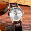 Hot Sale Cadisen Men Watches Top Luxury Sapphire Glass 50M Waterproof Automatic Mechanical Business Role Style Watch - BROWN LEATHER BAND+WHITE DIAL
