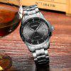 Hot Sale Cadisen Men Watches Top Luxury Sapphire Glass 50M Waterproof Automatic Mechanical Watch Business Role Style Wristwatch - BLACK + SILVER