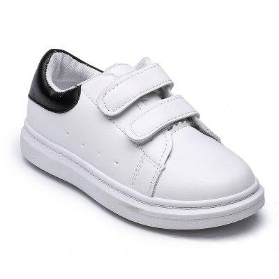 Big Kids Sports Shoes Children'S Shoes in White Shoe Velcro Shoes Breathable Boy