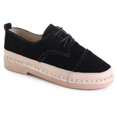Autumn Women's Shoes 2017 New Fashion Academy Wind Round Headed Retro Shoes