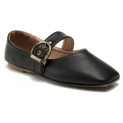 Buy BLACK + GOLDEN 39 2017 Autumn New Shoes Simple Fashion Flat Bottom Retro Shoes for $55.00 in GearBest store