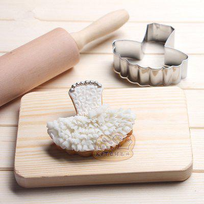 AY - HQ208 Stainless Steel Cake Biscuit Mold Ballet Skirt Shape