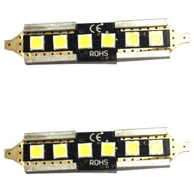 New Car Wide Band with Double Tip 39MM12V-24V 5W 6000K480LM Reading License Plate Lighting 2PCS