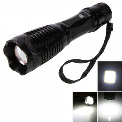YWXLight T6 LED 900LM 6000K 5 Modes Telescopic Zoom Flashlight