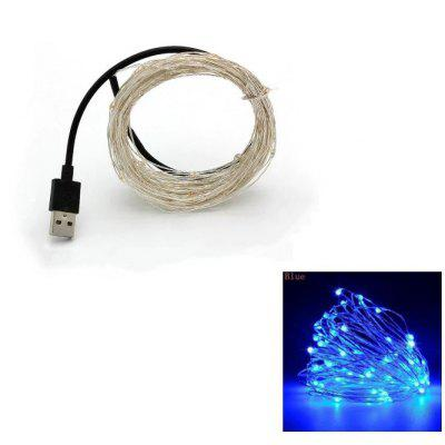10M 100-LED Silver Wire Strip Light 1PC