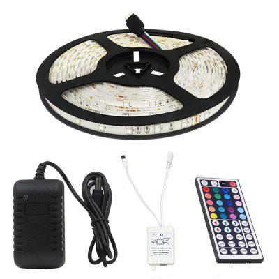 KWB LED Strip Light 2835 SMD 16.4FT 12VLED Strips<br>KWB LED Strip Light 2835 SMD 16.4FT 12V<br><br>Beam Angle: 180<br>Brand: KWB<br>Bulb Included: Yes<br>Color Temperature or Wavelength: RGB<br>Features: Color-changing, Cuttable, with Remote Control<br>Initial Lumens ( lm ): RGB<br>LED Quantity: 300<br>Length ( m ): 5<br>Light color: RGB<br>Light Source: LED<br>Package Content: 1 x 5M 2835 LED Strip Light , 1 x 44 Key Remote Controller , 1 x AA LED Power Supply<br>Package size (L x W x H): 22.00 x 22.00 x 13.00 cm / 8.66 x 8.66 x 5.12 inches<br>Package weight: 0.4500 kg<br>Power Supply: 12V<br>Product size (L x W x H): 18.00 x 18.00 x 15.00 cm / 7.09 x 7.09 x 5.91 inches<br>Product weight: 0.4000 kg<br>Type: RGB Strip Lights<br>Voltage: DC12V<br>Wattage (W): 18<br>Width( mm ): 8mm