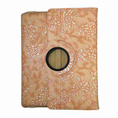 360 Degree Rotating Protective Cover Grape Pattern Painted Pu Tablet Case for Ipad 2/3/4