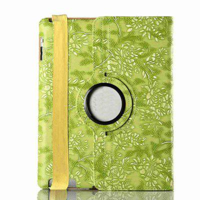 360 graden draaibare Protective Cover Grape Patroon Painted Pu Tablet Case voor Ipad 2/3/4