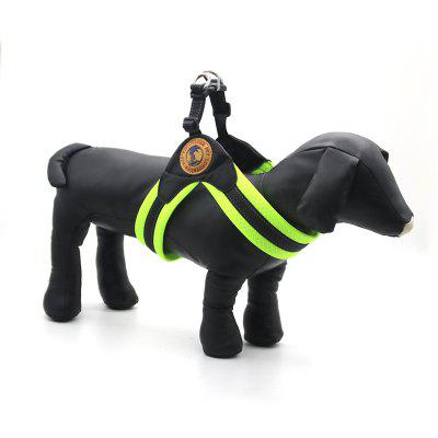 Buy GREEN S Lovoyager LVHA161223 3 Fashion Reflective Pet Collar Breathable Mesh Training Harness Vest for Small Puppy Large Dog for $14.88 in GearBest store
