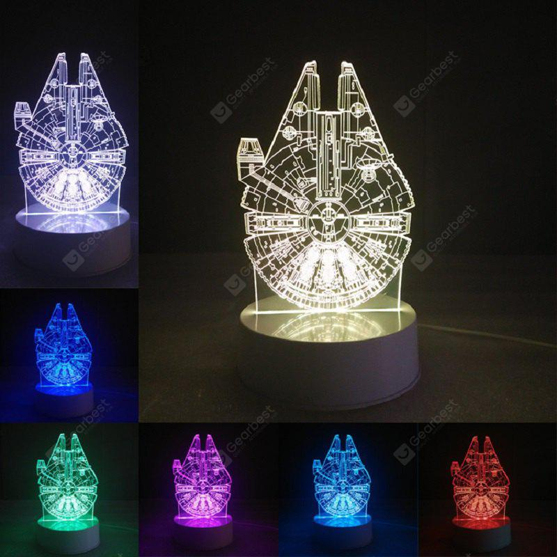 Gearbest DSU Millennium Falcon 3D Lamp Visual LED Table Light