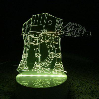 DSU 3D Lamp LED Table Night Light Tank Shape3D Lamps<br>DSU 3D Lamp LED Table Night Light Tank Shape<br><br>Feature: Rechargeable<br>Light Source Color: RGB<br>Package Content: 1 x Acrylic Board, 1 x ABS Pedestal, 1 x USB Cable, 1 x English Manual, 1 x 24 Keys Remote Control<br>Package Size ( L x W x H ): 25.00 x 17.00 x 7.00 cm / 9.84 x 6.69 x 2.76 inches<br>Product Size(L x W x H): 20.00 x 15.00 x 9.00 cm / 7.87 x 5.91 x 3.54 inches<br>Type: Christmas, Halloween, Valentines<br>Voltage (V): 5V