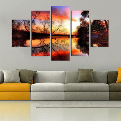 Buy COLORMIX YHHP 5 Panels Landscape in Autumn Print Wall Art on Canvas Unframed for $33.53 in GearBest store