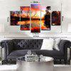 YHHP 5 Panels Landscape in Autumn Print Wall Art on Canvas Unframed - COLORMIX