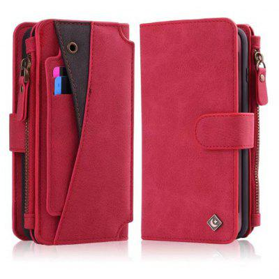 Buy RED Wkae Premium Quality Multi Functional Zipper Holster Case For IPhone 6 Plus / 6S Plus for $12.21 in GearBest store