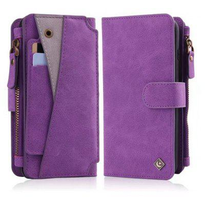 Buy PURPLE Wkae Premium Quality Multi Functional Zipper Holster Case For IPhone 6 Plus / 6S Plus for $12.21 in GearBest store