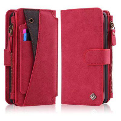 Buy RED Wkae Premium Quality Multi Functional Zipper Holster Case For IPhone 6 / 6S for $12.21 in GearBest store