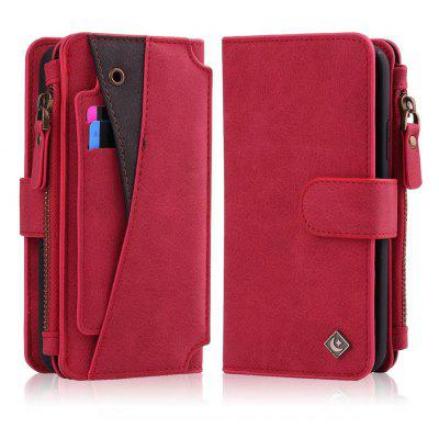 Buy RED Wkae Premium Quality Multi Functional Zipper Holster Case For IPhone X for $12.21 in GearBest store