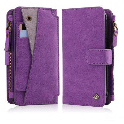 Buy PURPLE Wkae Premium Quality Multi functional Zipper Holster Case For Samsung Galaxy S8 Plus for $12.87 in GearBest store