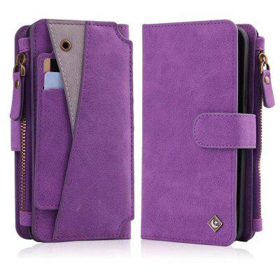 Buy PURPLE Wkae Premium Quality Multi functional Zipper Holster Case For Samsung Galaxy S8 for $12.87 in GearBest store