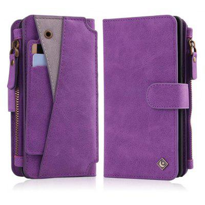 Buy PURPLE Wkae Premium Quality Multi Functional Zipper Holster Case For Samsung Galaxy Note 8 for $12.87 in GearBest store