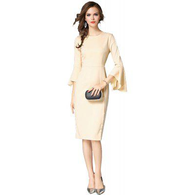 The New WomenS Autumn Fashion Name Slow in The Long Section Slim DressWomens Dresses<br>The New WomenS Autumn Fashion Name Slow in The Long Section Slim Dress<br><br>Dresses Length: Mid-Calf<br>Elasticity: Nonelastic<br>Fabric Type: Twill<br>Material: Acetate<br>Neckline: Round Collar<br>Package Contents: 1 X Dress<br>Pattern Type: Solid<br>Season: Fall, Spring<br>Silhouette: Straight<br>Sleeve Length: 3/4 Length Sleeves<br>Sleeve Type: Flare Sleeve<br>Style: Elegant<br>Waist: Natural<br>Weight: 0.4700kg<br>With Belt: No
