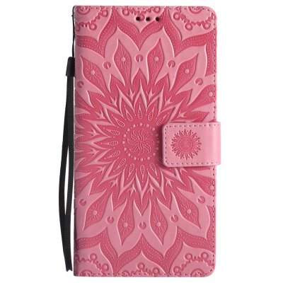 Buy PINK Sun Flower Printing Design Pu Leather Flip Wallet Lanyard Protective Case for Huawei Mate 8 for $6.48 in GearBest store