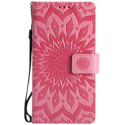 Buy PINK Sun Flower Printing Design Pu Leather Flip Wallet Lanyard Protective Case for Huawei Mate 7 for $6.48 in GearBest store