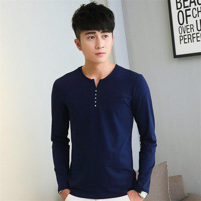 Mens Personalized Decoration Solid Color Long Sleeve Slim T-ShirtMens T-shirts<br>Mens Personalized Decoration Solid Color Long Sleeve Slim T-Shirt<br><br>Collar: V-Neck<br>Material: Cotton<br>Package Contents: 1 x T-Shirt<br>Pattern Type: Solid<br>Sleeve Length: Full<br>Style: Casual<br>Weight: 0.2000kg