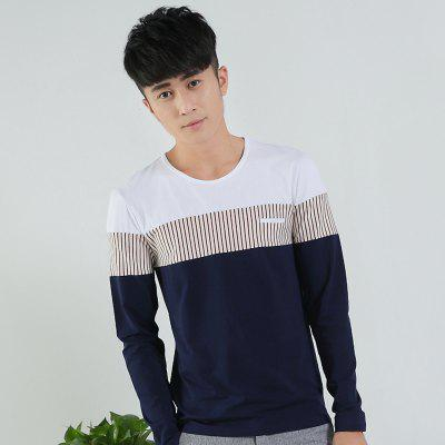 Mens Stripe Hit Color Round Neck Long Sleeve Slim T-ShirtMens T-shirts<br>Mens Stripe Hit Color Round Neck Long Sleeve Slim T-Shirt<br><br>Collar: Round Neck<br>Material: Cotton<br>Package Contents: 1 x T-Shirt<br>Pattern Type: Striped<br>Sleeve Length: Full<br>Style: Casual<br>Weight: 0.1800kg